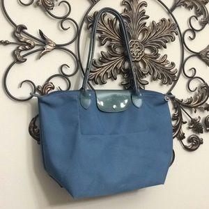 Longchamp Large blue modele depose' shopping tote